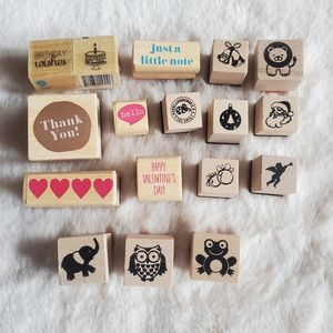 Lot of 17 Scrapbooking Stamps